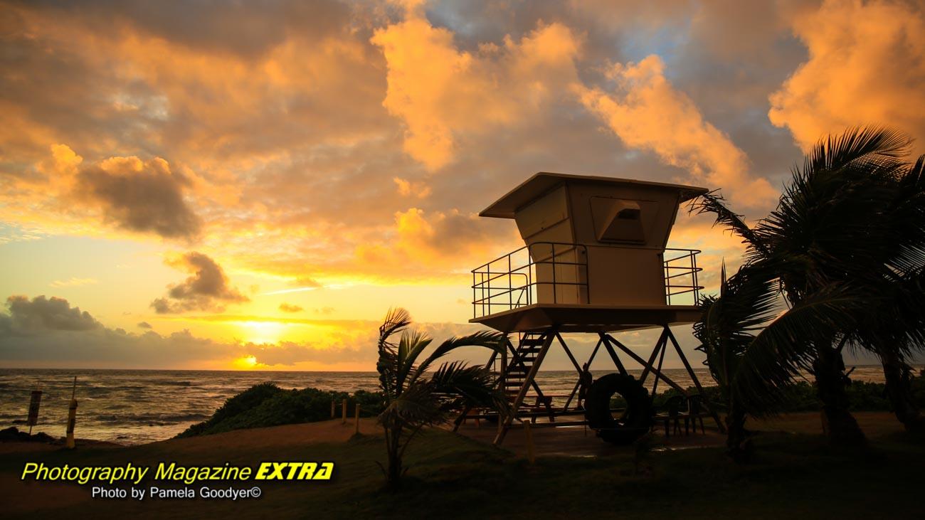hawaii, beach sunrise,