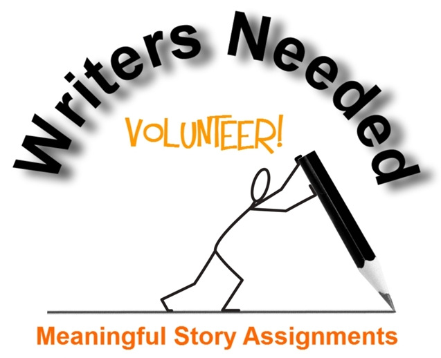 volunteer writers submit images and articles