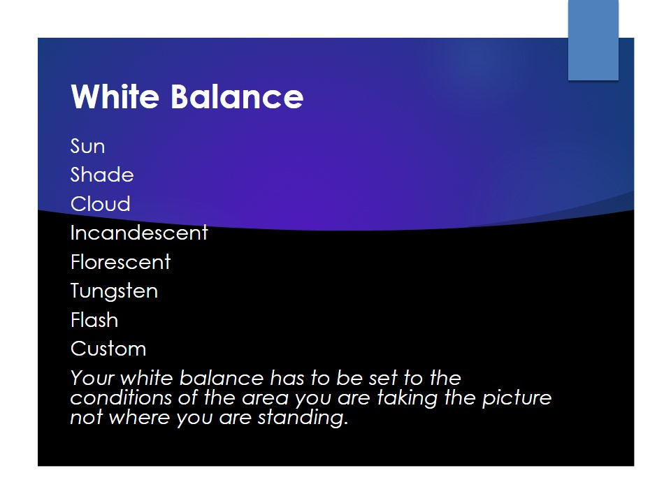 Basic Photography white balance