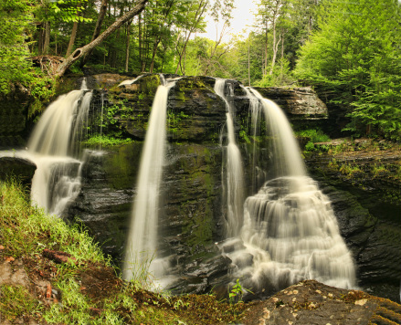 pocono pa. waterfalls photo magazine extra