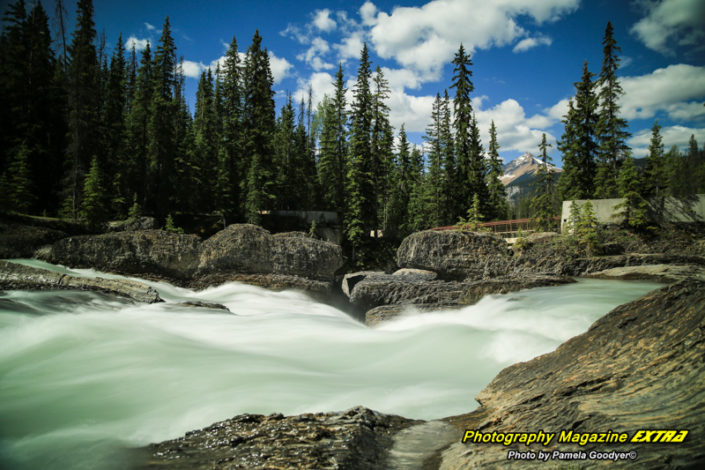 Milky waters of the Natural Bridge Canadian Rockies