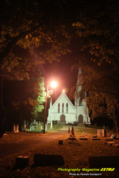 Spooky ghost hunting graveyard in Spotswood New Jersey