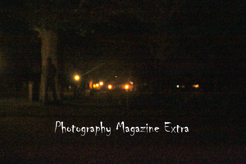 ghost hunt mans shadow in tree of the graveyard that is haunted by civil war entities