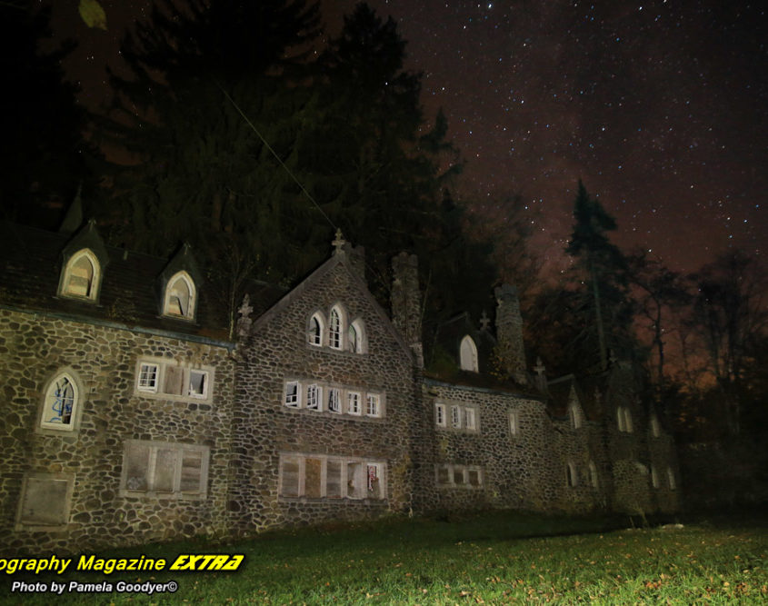 Castle Ghost Hunt. Photography Magazine Extra hunts apparitions whilst finding orbs and entities around the haunted castle.