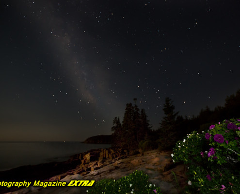 Thunder Hole - Milky Way - Acadia National Park