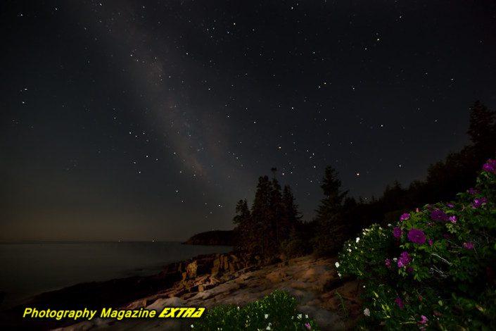 Thunder Hole - Milky Way - Acadia National Park