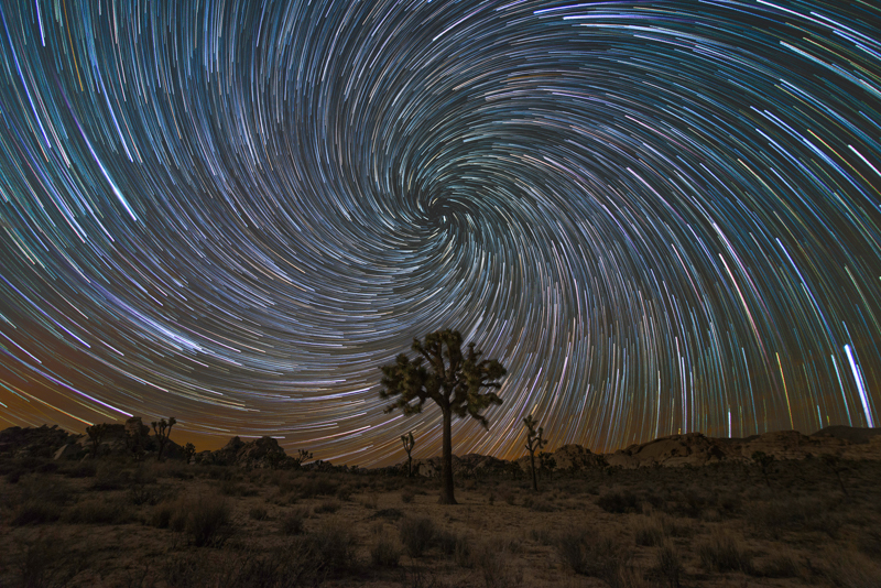Milky Way Mike Star trails at Joshua Tree National Park