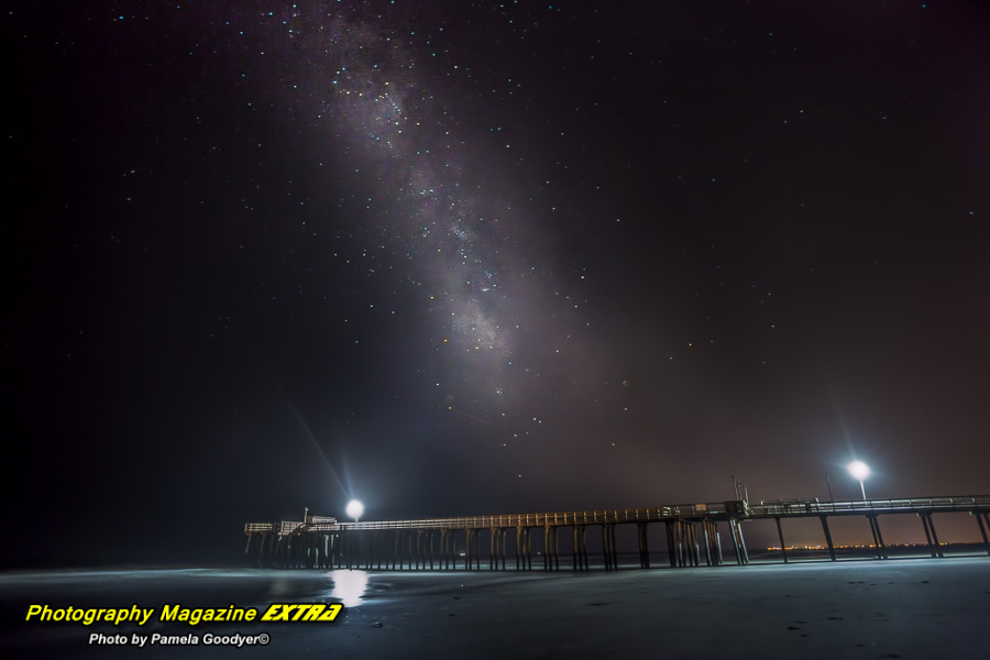 sea isle city new jersey milky way photography