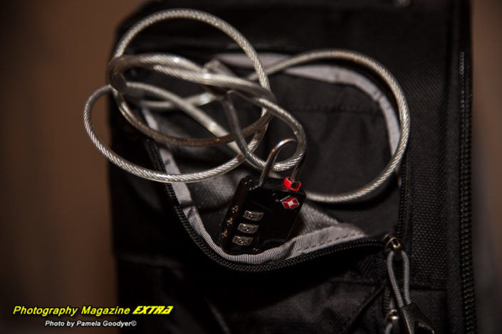 Think Tank Camera Bags Built in Cable Lock System