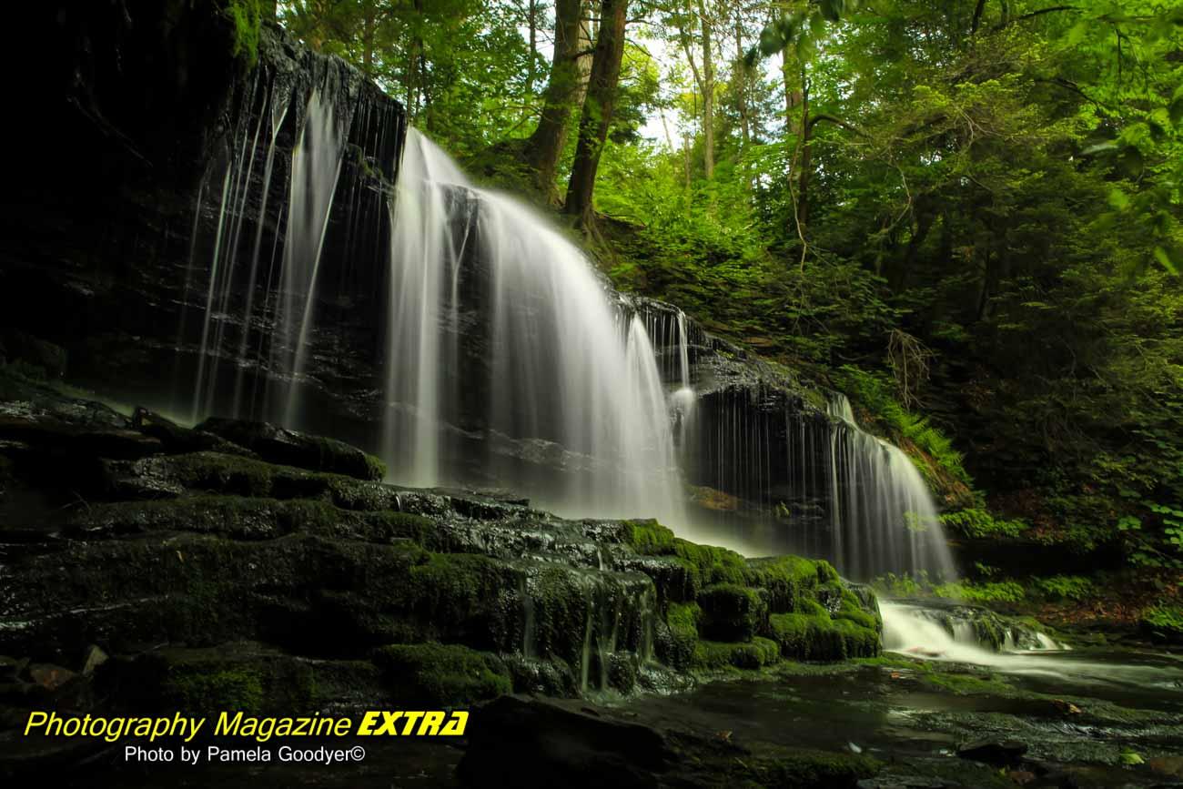 Ricketss Glenn State Park, waterfall photography