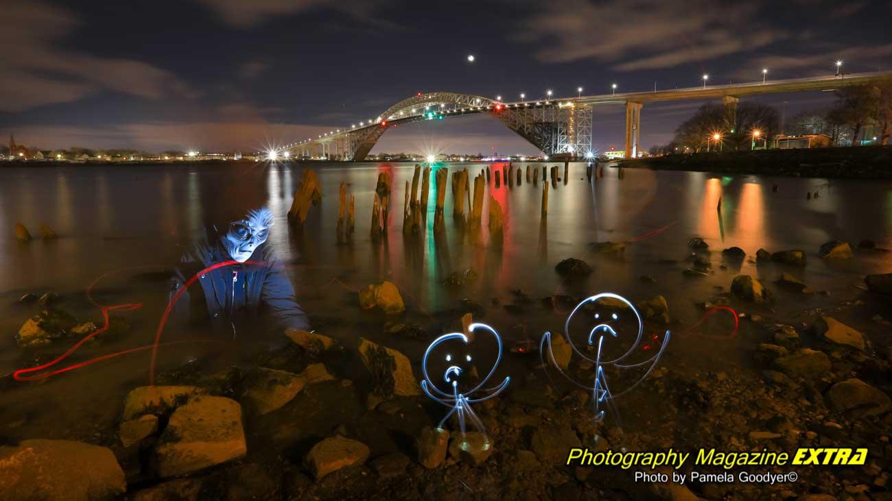 Pamela Goodyer first to photograph aliens bayonee bridge
