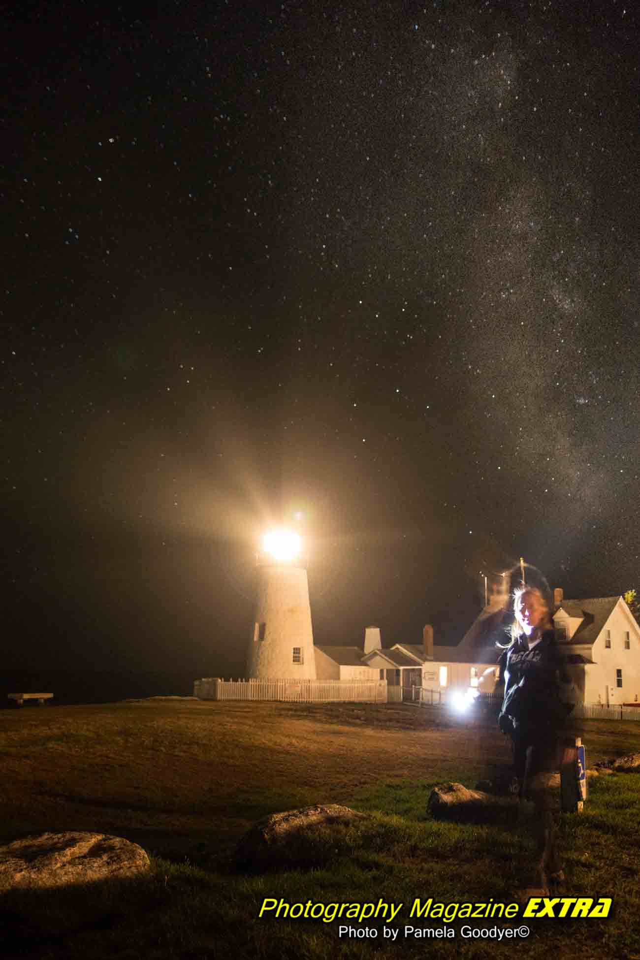 Pemaquid Point Maine Milky Way