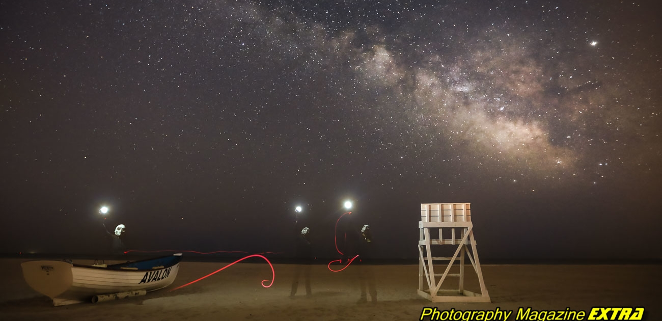 Avalon, new jersey, milky way, aliens, long exposure photography